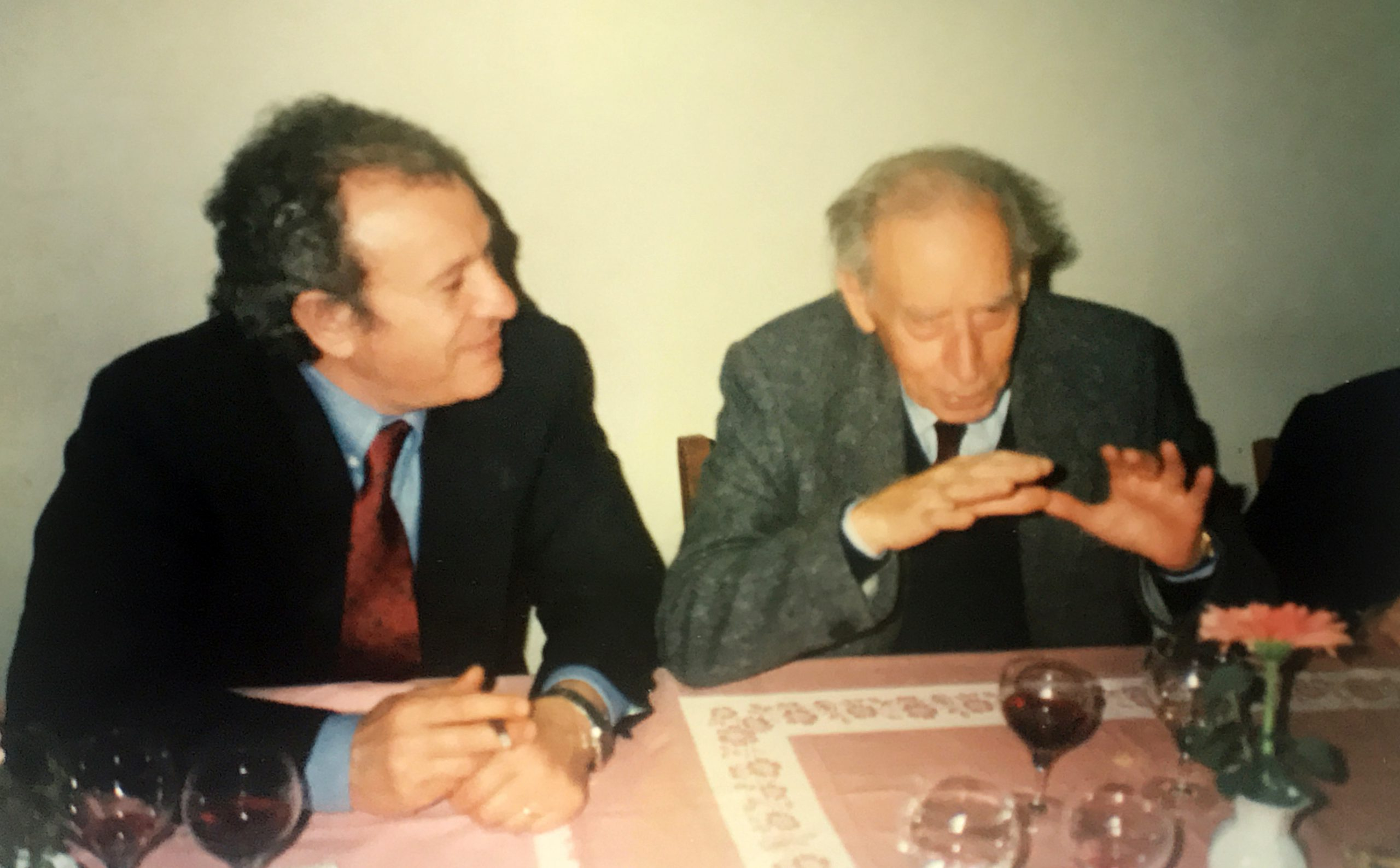 Uno dei tanti momenti condivisi con Mario Luzi
